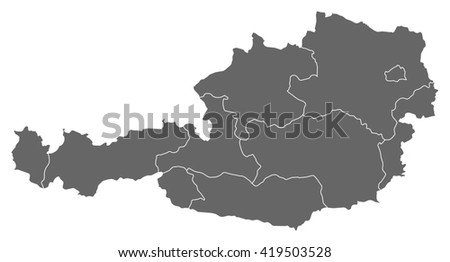 Map - Austria - stock vector