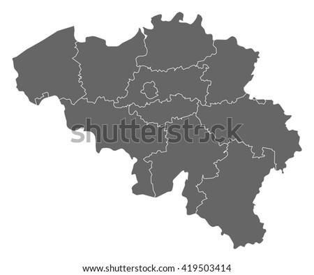 Map - Belgium - stock vector