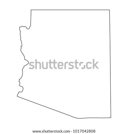 map black outline state usa arizona