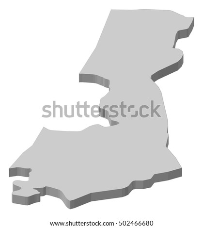 Map - Central District (Israel) - 3D-Illustration