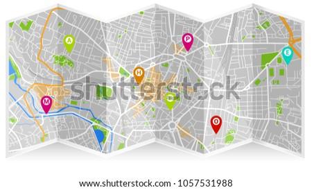 Map City Dijon Stock Images RoyaltyFree Images Vectors