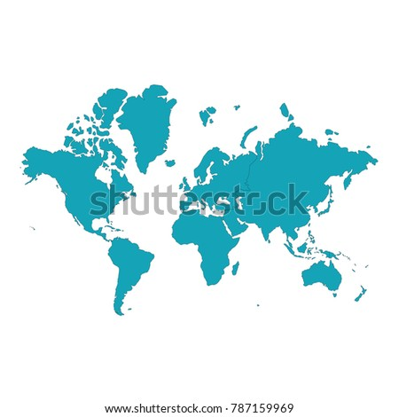 Map continents high color light blue stock vector hd royalty free map continents high color light blue detailed vector map continent white background world map gumiabroncs Images
