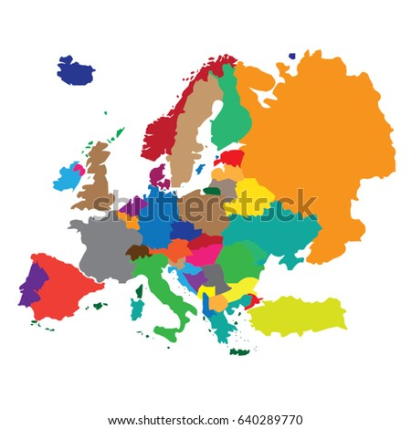 Map countries europe stock vector 640289770 shutterstock map countries europe gumiabroncs Choice Image