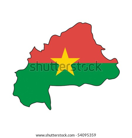 map flag Burkina Faso