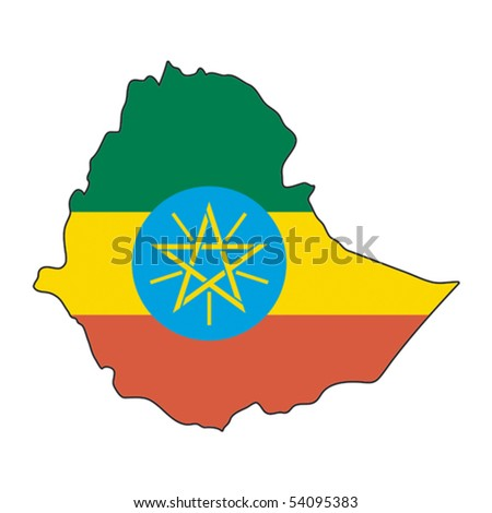 map flag Ethiopia