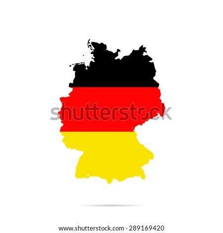 Map, flag of Germany