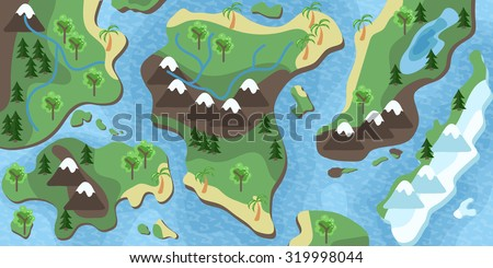 Map for RPG or Action games or camping activities.