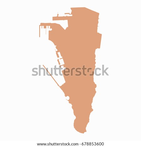 Gibraltar Map Stock Images RoyaltyFree Images Vectors