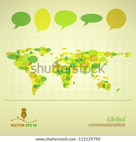 Map. Global communication