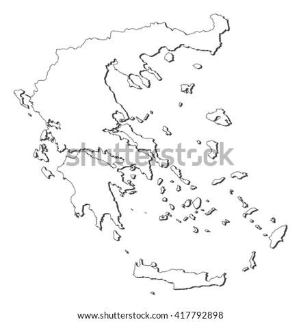 Map - Greece - stock vector