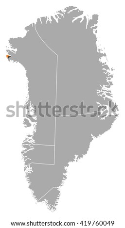 Map Greenland Thule Air Base Stock Vector 419760049 Shutterstock