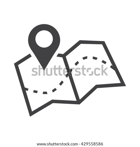 Map Icon Stock Vector 429558586 - Shutterstock