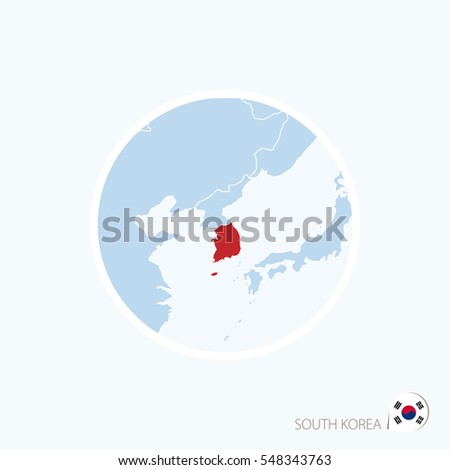 Map icon south korea blue map stock vector 548343763 shutterstock map icon of south korea blue map of east asia with highlighted south korea in gumiabroncs Images