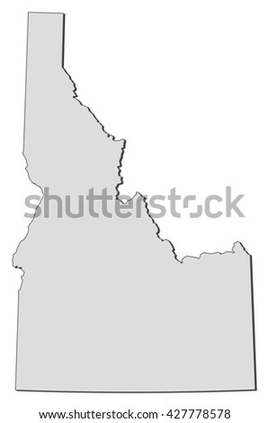 Map - Idaho (United States) - stock vector