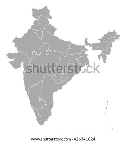 Map - India, Chandigarh - stock vector