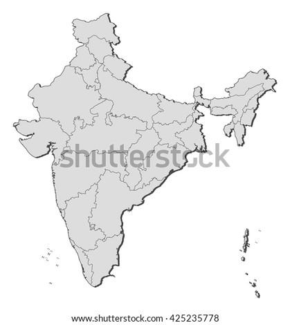 Map - India, Lakshadweep - stock vector