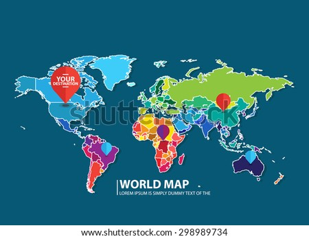 map infographic - stock vector