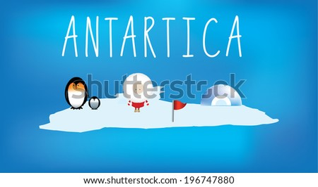 Map is part of a series of continents - stock vector