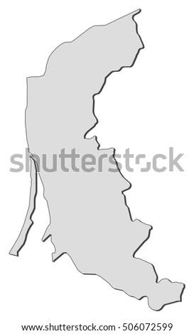 Map Klaipeda Lithuania Stock Vector Shutterstock - Klaipėda map