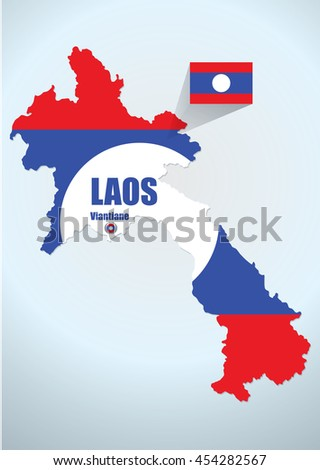 map laos design vector illustration