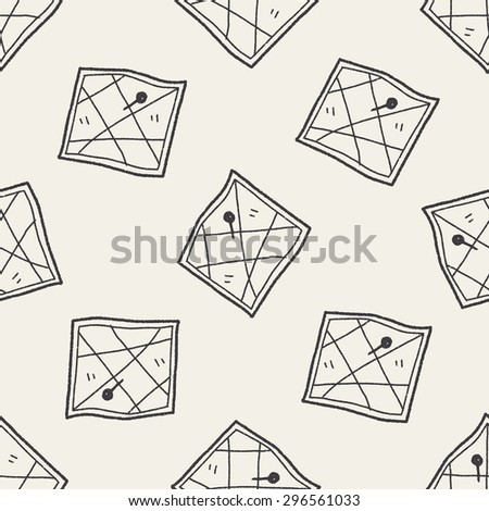 map location doodle seamless pattern background