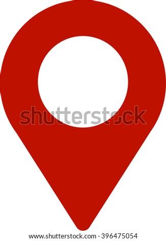 Map Location Icon - stock vector