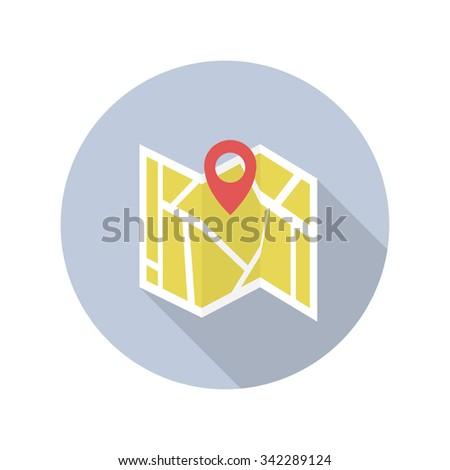 map location icon. vector illustration - stock vector