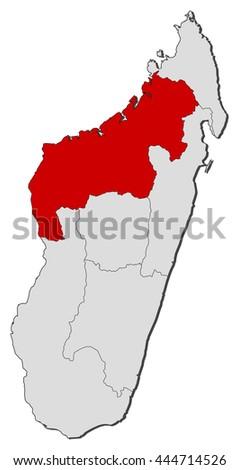 Map Madagascar Mahajanga Stock Vector 444714526 Shutterstock