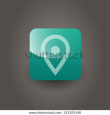 Map marker icon - stock vector