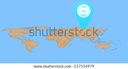 Map marker on world map stock vector 517554979 shutterstock map marker on world map gumiabroncs Images