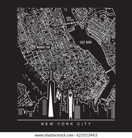 New York City Map Stock Images RoyaltyFree Images Vectors - New york city map drawing