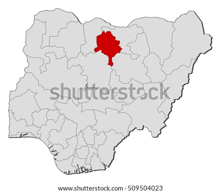 Map Nigeria Kano Stock Vector 509504023 Shutterstock