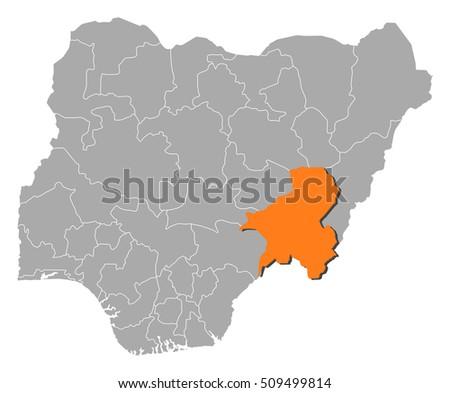 Nigeria map stock images royalty free images vectors shutterstock map nigeria taraba sciox Choice Image