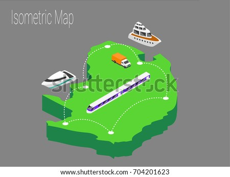 Map North Africa Isometric Concept 3d Stock Vector 704201623