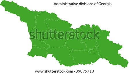 Map of administrative divisions of Georgia