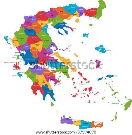 Greece Map Stock Images RoyaltyFree Images Vectors Shutterstock - Greece maps