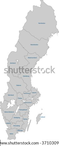 Map of administrative divisions of Sweden