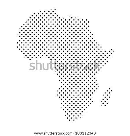 africa map dotted vector