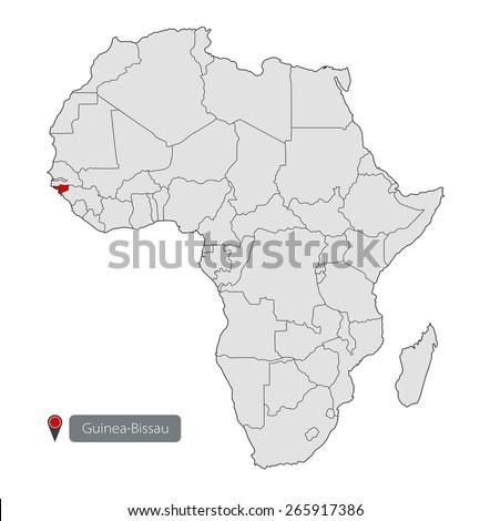 Map Africa Guineabissau Stock Vector 265917386 Shutterstock