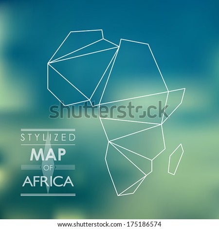 map of africa. map concept - stock vector