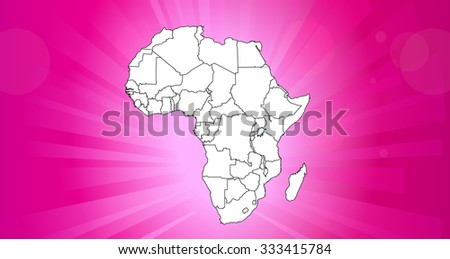 Map of Africa with Background - Vector Illustration