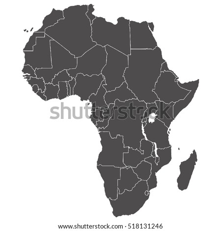 Map african continent borders twocolor vector stock vector map of african continent with borders two color vector illustration gumiabroncs Choice Image