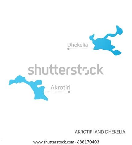 Map Akrotiri Dhekelia Stock Vector 688170403 Shutterstock