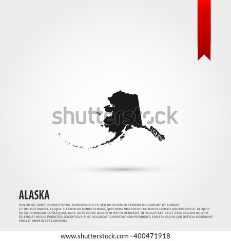 Map of Alaska state icon vector. Map of Alaska state icon JPEG. Vector illustration design element. Flat style design icon. - stock vector