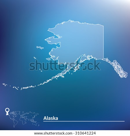Map of Alaska - vector illustration