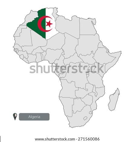Map Algeria Official Flag Location On Stock Vector 271560086