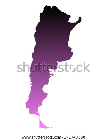 Map of Argentina - stock vector