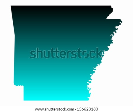 Map of Arkansas - stock vector