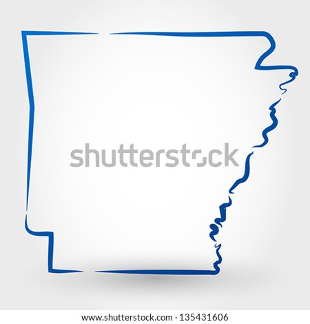 map of arkansas. map concept