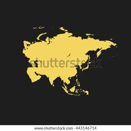 map of Asia - stock vector